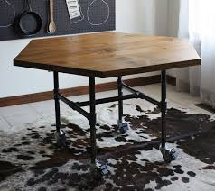 Wheels For Chair Legs Diy Honeycomb Table With Industrial Pipe Legs U2013 A Beautiful Mess