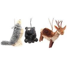 ornaments buri wilderness animal ornament set of 3 ebay