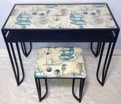 Refurbished End Tables by Patio Furniture Makeover Blossom Diysign