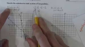 solving systems of inequalities kutasoftware worksheet youtube