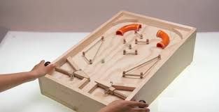 como hacer un pinball o flipper casero wooden toys toy and woods