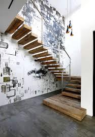 Unbehandelte Ziegelwand Treppen Wand Gestalten Unglaubliche Auf Moderne Deko Ideen Plus