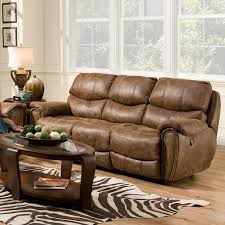 red barrel studio carolina leather reclining sofa u0026 reviews wayfair