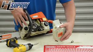 how to replace a starter on a stihl chainsaw the easy way