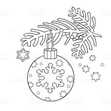coloring outline christmas decoration stock vector art