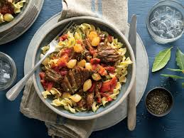thanksgiving noodles recipe sweet and spicy short ribs with egg noodles recipe southern living