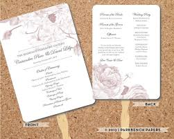 print wedding programs wedding program bold floral fan diy editable word