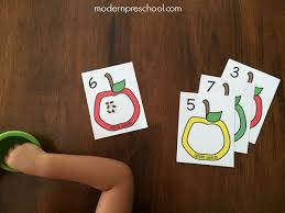 seed cards apple seed counting cards