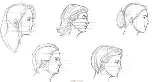 how to draw a female face side view rapidfireart