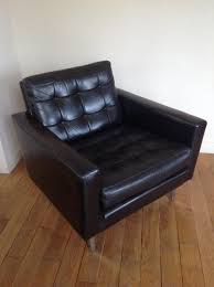 Leather Mid Century Chair Chair Winsome Mid Century Black Leather Club Chair For Sale At