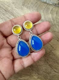 cornflower blue opal buy one of a kind handmade chalcedony jewelry online at