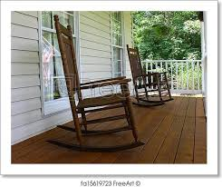 Chairs For Front Porch Free Art Print Of Two Brown Wooden Rocking Chairs On A Brown