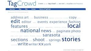 create resume app use a tag cloud to check what you need change in