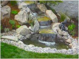 backyards ergonomic backyard waterfalls and ponds to beautify