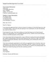 Hotel Front Desk Supervisor Job Description Cover Letter Cover Letter For Supervisor Cover Letter For