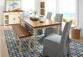 cottage dining table set picture of hillside cottage white 5 pc dining room with blue chairs