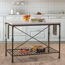 metal kitchen island tables castille metal kitchen island textured black with white marble top