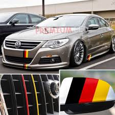 mercedes volkswagen aliexpress com buy 1 10 germany flag color stripe decal