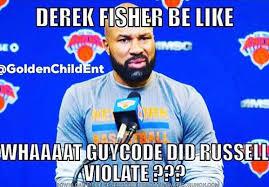 The D Meme - matt barnes uses derek fisher meme to reference d angelo russell