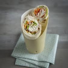 boursin cuisine wrap met kalkoen en rauwkost met boursin cuisine look fijne