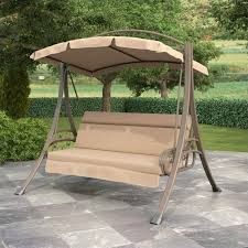 Swinging Patio Chair Patio Swing With Arched Canopy In Beige Pnt 803 S