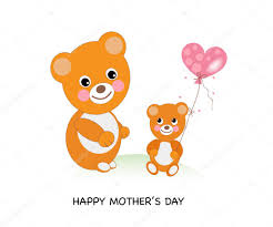 happy mother u0027s day greeting card cute bears celebrating mother u0027s