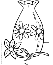 easy coloring pages free printable flower vase easy coloring