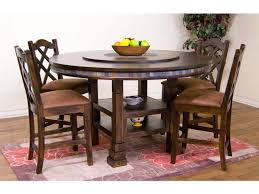 round table mt shasta sunny designs dining room santa fe round table with lazy susan