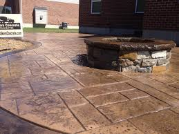 Patio With Firepit Walkers Concrete Llc Cincinnati Outdoor Fireplaces And Fire Pits