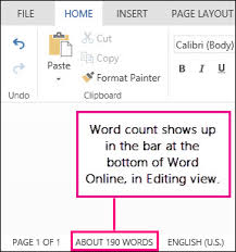 Count Words In A Text Document The Word Count In Word Word