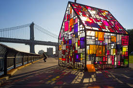 Brooklyn House Tom Fruin U0027s Stained Glass House Installed At Brooklyn Bridge Park
