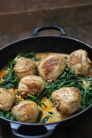 recette de cuisine rapide et facile on dine chez nanou poulet aux épinards et au paprika