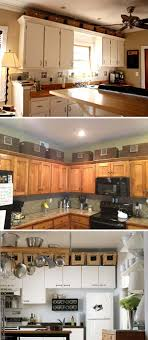 how to decorate space above kitchen cabinets 20 stylish and budget friendly ways to decorate above