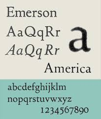 What Font To Use On Resume Emerson Typeface Wikipedia