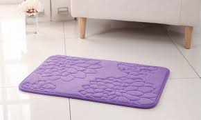 Purple Bath Rugs Memory Foam Bath Rug Groupon Goods