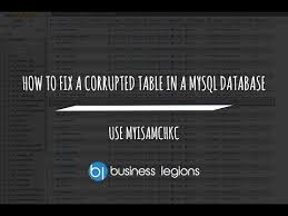 Mysql Repair All Tables by How To Fix A Corrupted Table In A Mysql Database Youtube