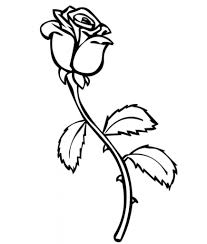 rose coloring page fablesfromthefriends com