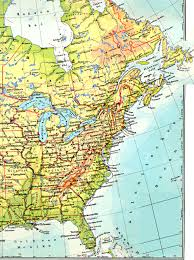 map of atlantic canada and usa road map of eastern canada major tourist attractions maps