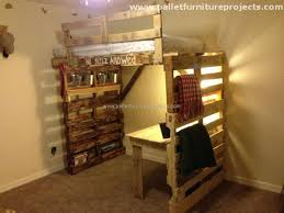 Wood Frame Bunk Beds Pallet Bunk Bed Projects Pallet Furniture Projects