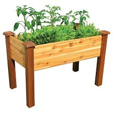 Western Red Cedar Outdoor Furniture by Elevated Garden Bed With Safe Finish Western Red Cedar