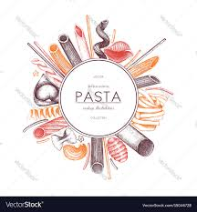 menu template with italian pasta royalty free vector image