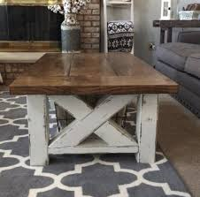 farmhouse coffee and end tables ana white chunky farmhouse coffee table diy projects