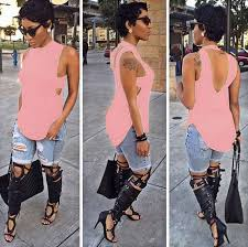 pink sleeveless t shirt dress sheath clubwear woman tshirt