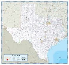 Mexico Wall Map Texas Highway Wall Map Maps Com