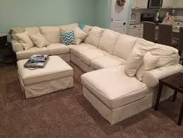 Slipcovered Sectional Sofas Furniture White Slipcover Sectional Living Rooms