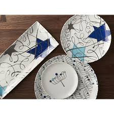 hanukkah plate hanukkah platter in serving platters crate and barrel happy