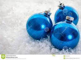 blue ornaments on snow stock photos image 35545343