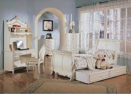 full size girl bedroom sets pearl white classic girl s bedroom w sleigh bed carved details