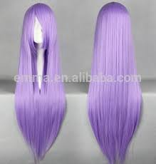 Light Purple Wig Charming Design Light Purple Long Straight Hair Cosplay Artificial