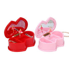 Childrens Music Boxes Double Heart Style Music Box Childrens Musical Jewellery Box